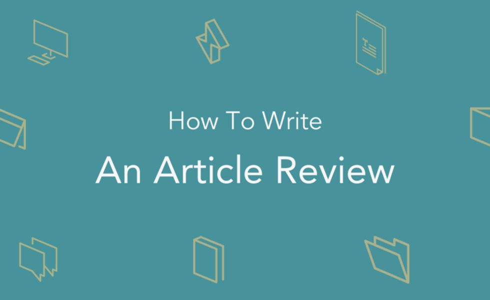 How to Write an Article Review | How To Write An Article Critique